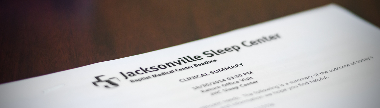 Jacksonville Sleep Center Clinical Summary