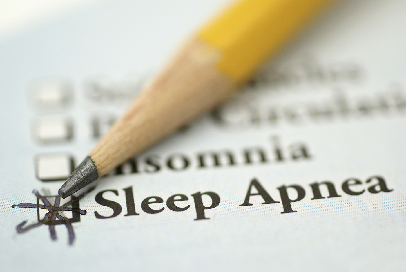Sleep disorder checklist