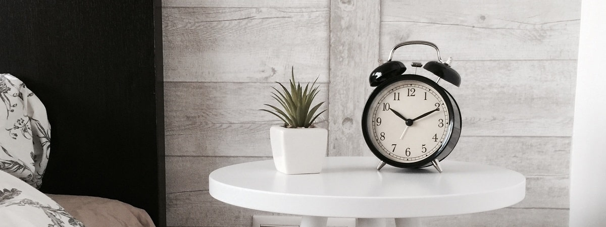 Resetting your sleep schedule is easier when using this alarm clock.